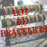 Lot de 20 bracelets plaqué or