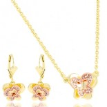 Ornament for woman - Butterflies gold and pink gold