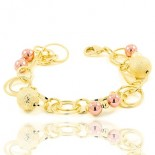 bracelet for woman - Multitude of Intertwined circles