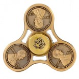 "9.90€ piece - Hand spinner acier ""METALIQUE MULTICOLOR BILLE"""