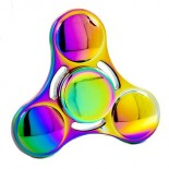 "8.90€ piece - Hand spinner acier ""METALIQUE MULTICOLOR BILLE"""