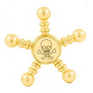 "Hand spinner acier ""PIRATE OR"""
