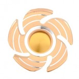 "9.90€ piece - Hand spinner acier ""SPIRALE OR"""