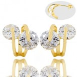 earrings for woman - embellished with diamonds cz